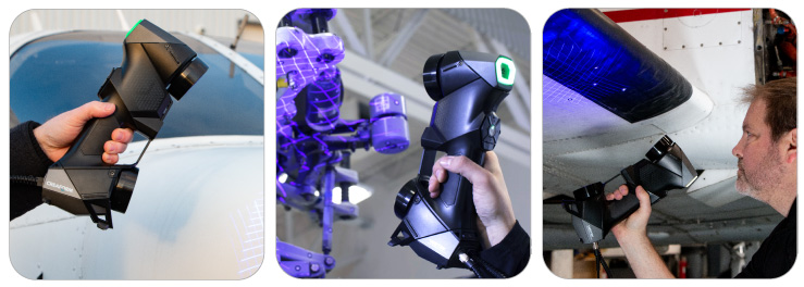 HandySCAN手持式雷射掃描器高可攜性且輕量化